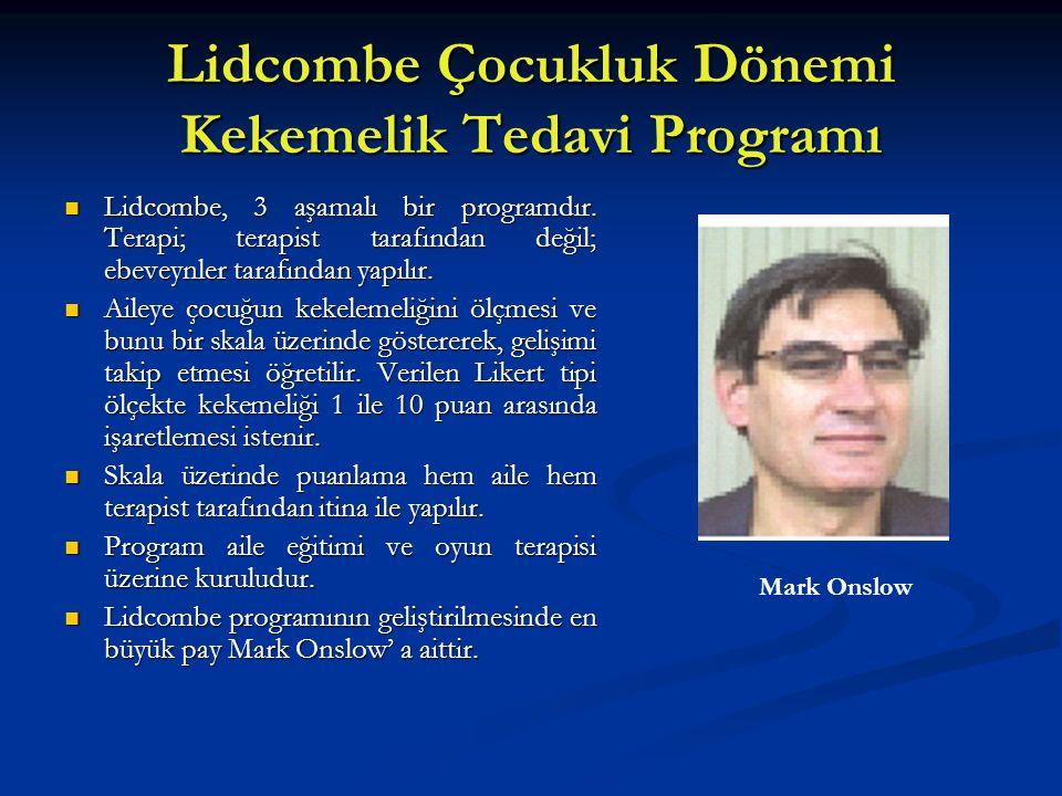 Lidcombe Çocukluk Dönemi Kekemelik Tedavi Programı