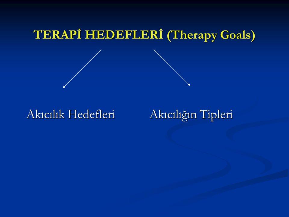 TERAPİ HEDEFLERİ (Therapy Goals)
