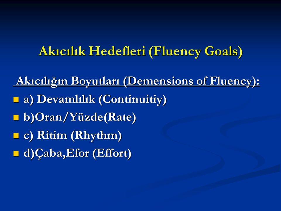 Akıcılık Hedefleri (Fluency Goals)