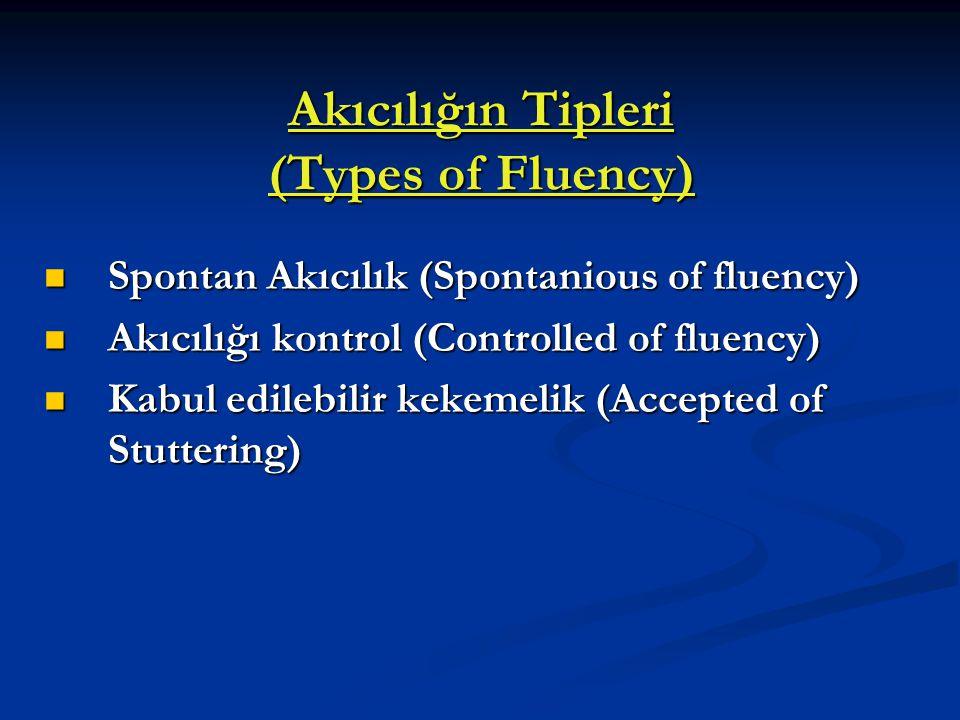 Akıcılığın Tipleri (Types of Fluency)