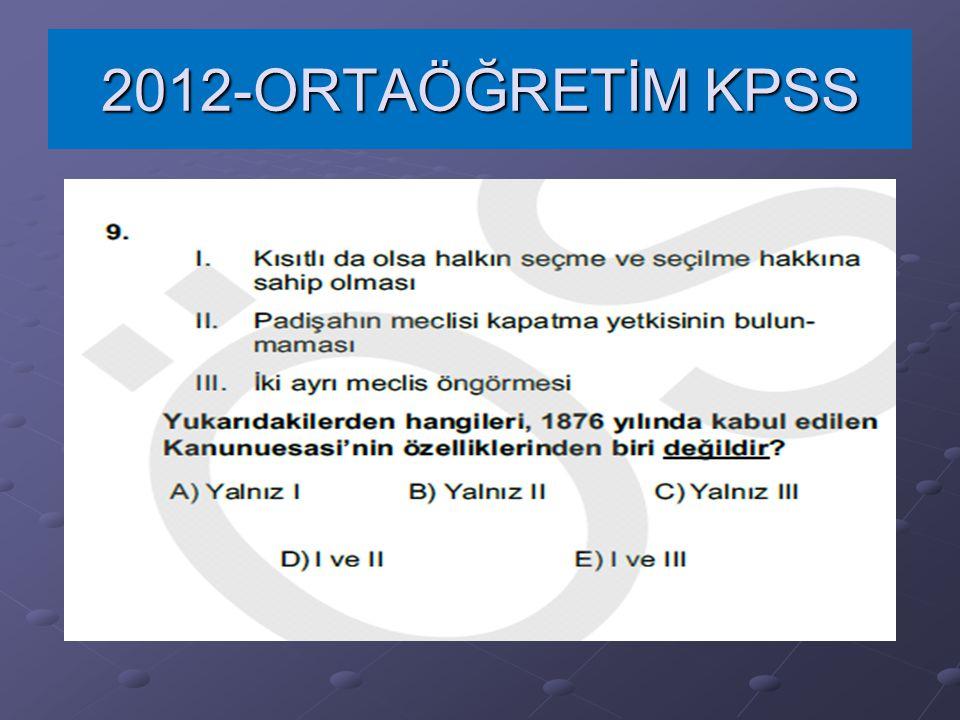 2012-ORTAÖĞRETİM KPSS