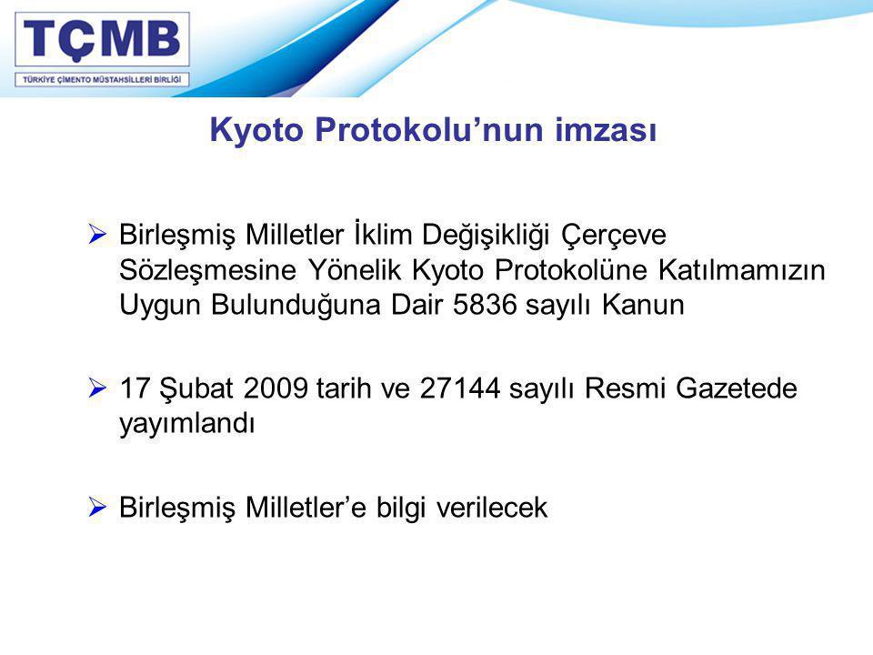 Kyoto Protokolu'nun imzası