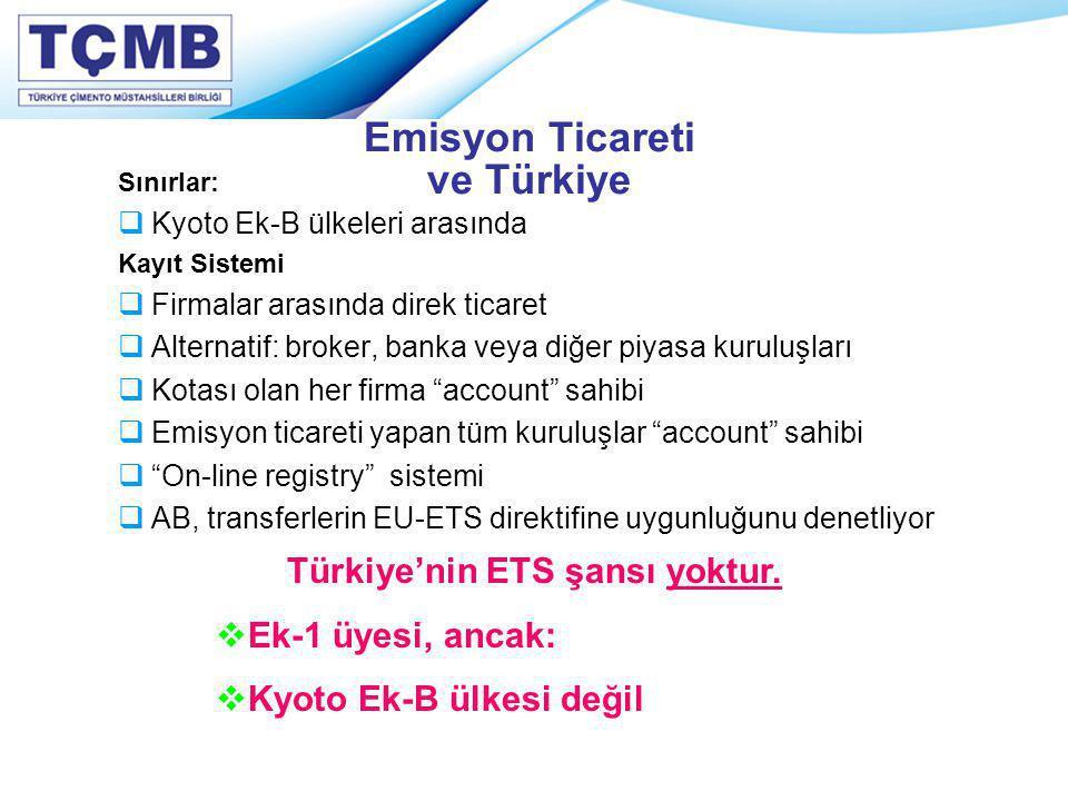 Emisyon Ticareti ve Türkiye