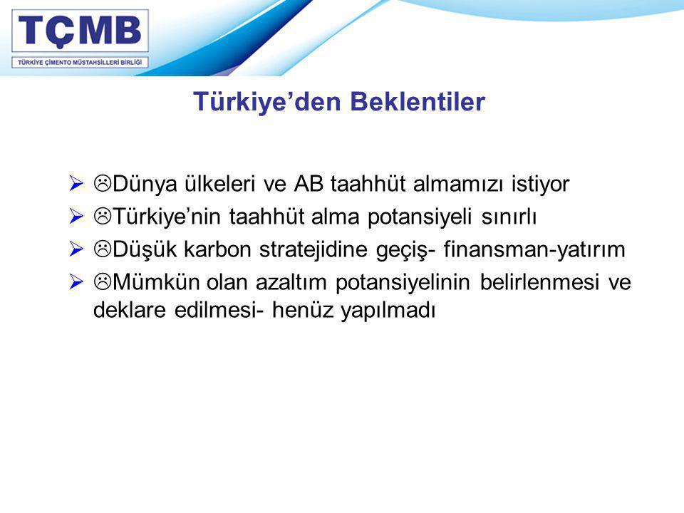 Türkiye'den Beklentiler