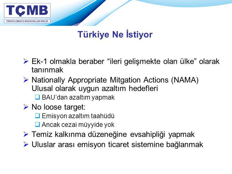 Türkiye Ne İstiyor Ek-1 olmakla beraber ileri gelişmekte olan ülke olarak tanınmak.