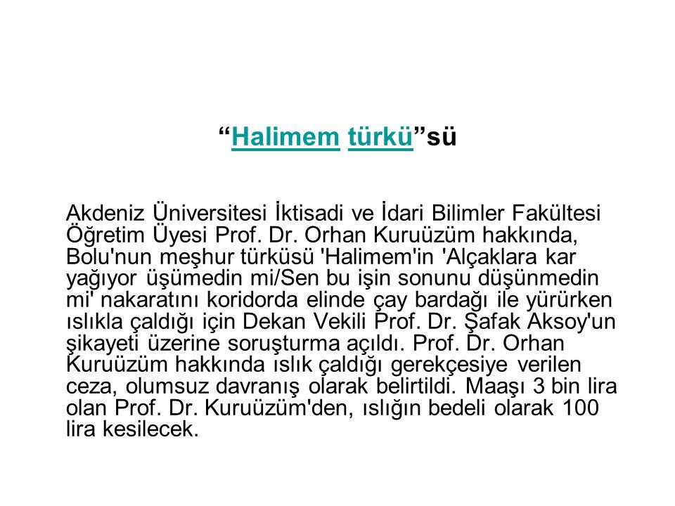 Halimem türkü sü