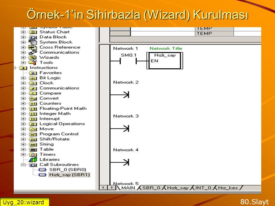 Örnek-1'in Sihirbazla (Wizard) Kurulması