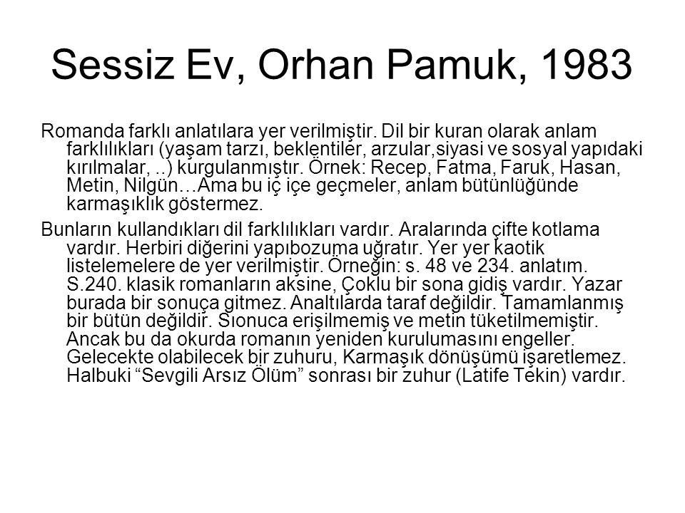 Sessiz Ev, Orhan Pamuk, 1983