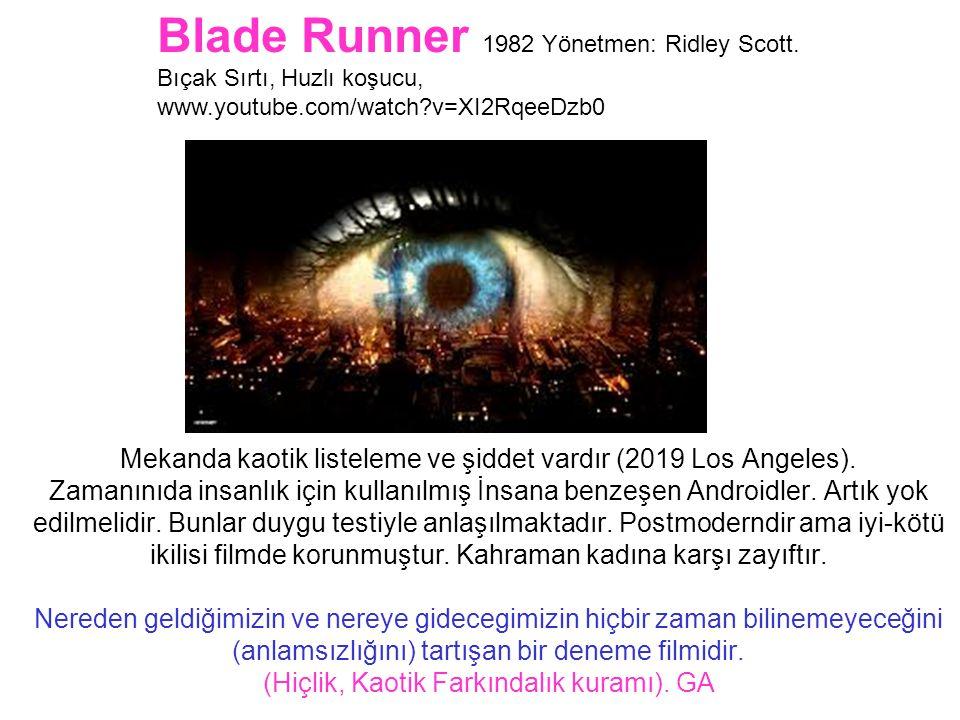 Blade Runner 1982 Yönetmen: Ridley Scott.