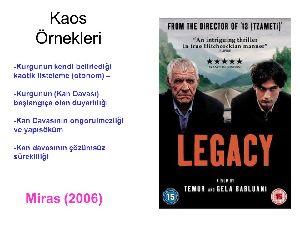 Kaos Örnekleri Miras (2006)