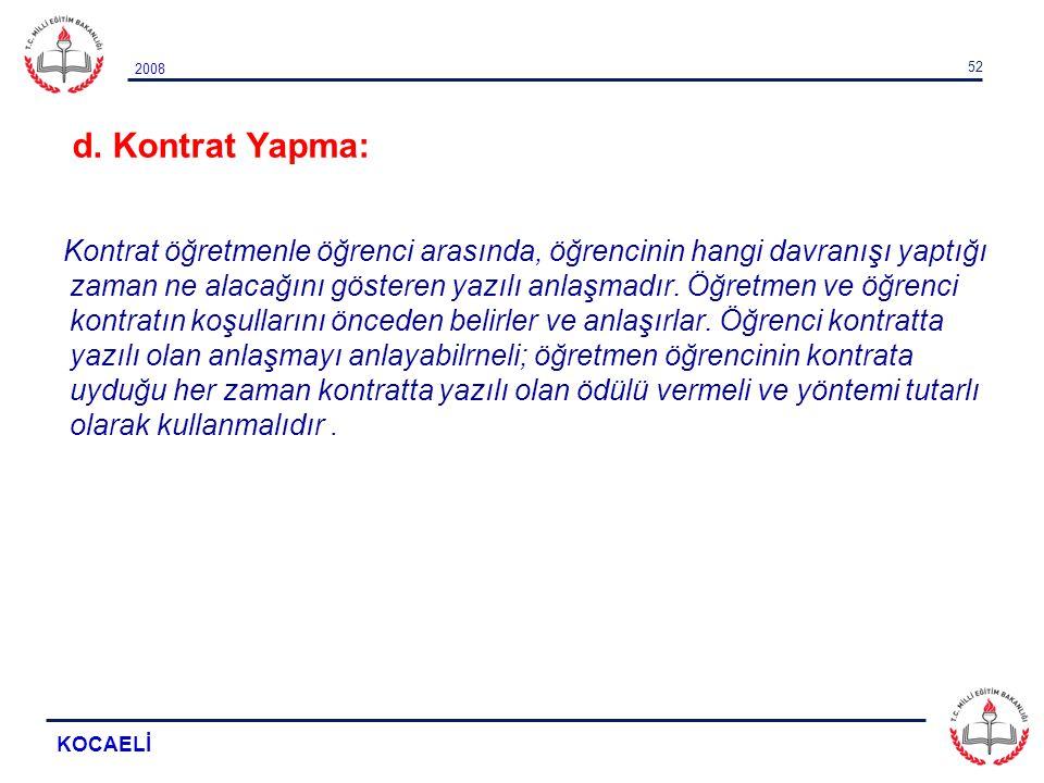 d. Kontrat Yapma: