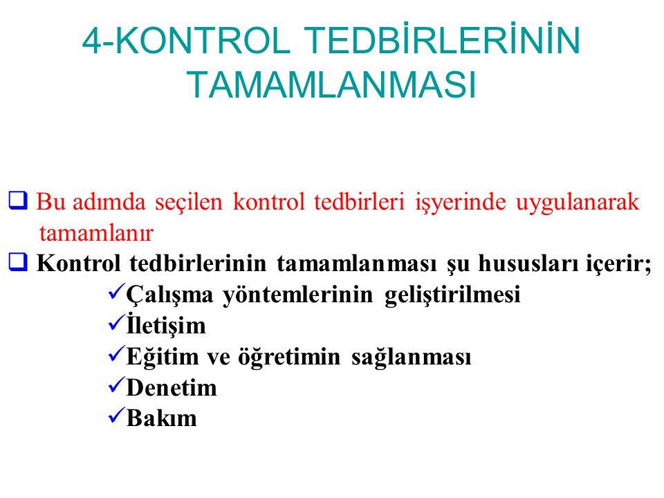 4-KONTROL TEDBİRLERİNİN TAMAMLANMASI