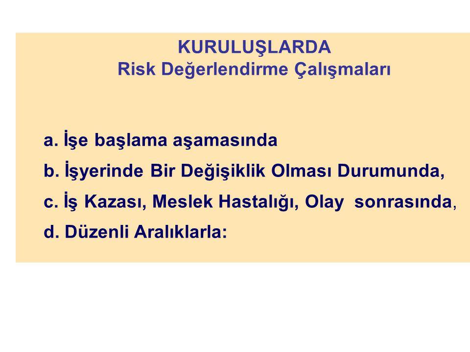 Risk Değerlendirme Çalışmaları