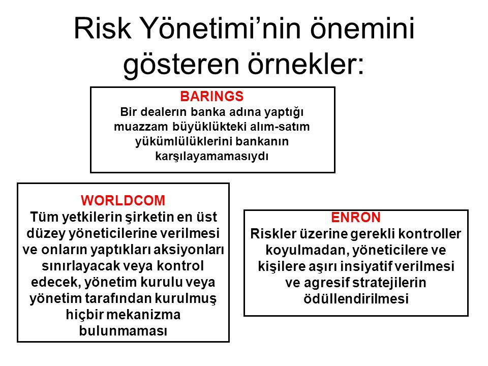 Risk Yönetimi'nin önemini gösteren örnekler: