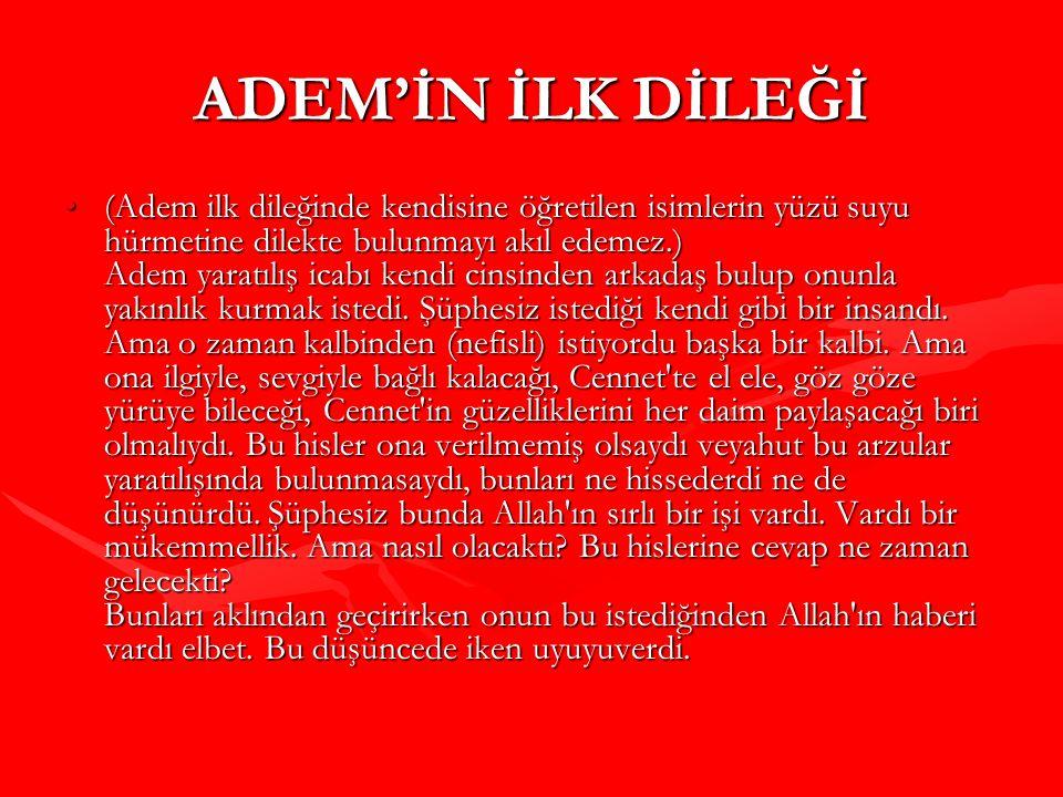 ADEM'İN İLK DİLEĞİ