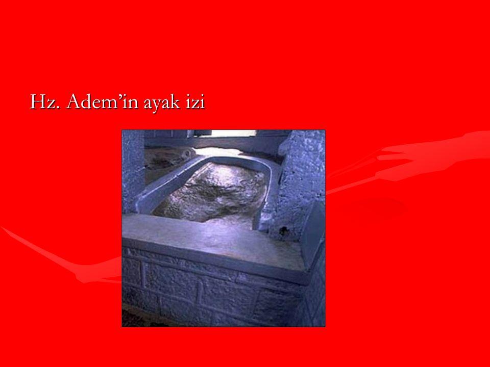 Hz. Adem'in ayak izi