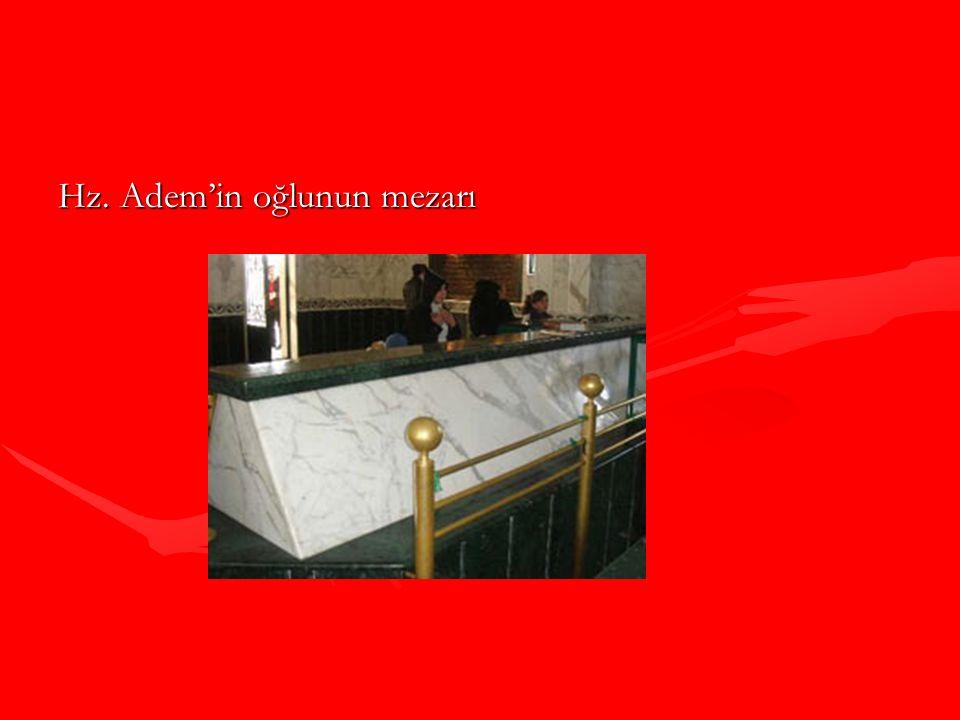 Hz. Adem'in oğlunun mezarı