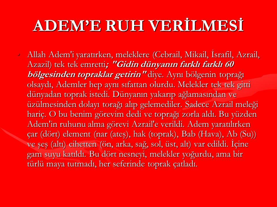 ADEM'E RUH VERİLMESİ
