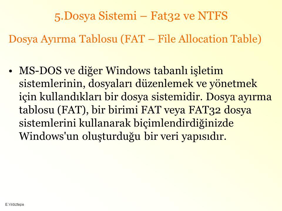 5.Dosya Sistemi – Fat32 ve NTFS