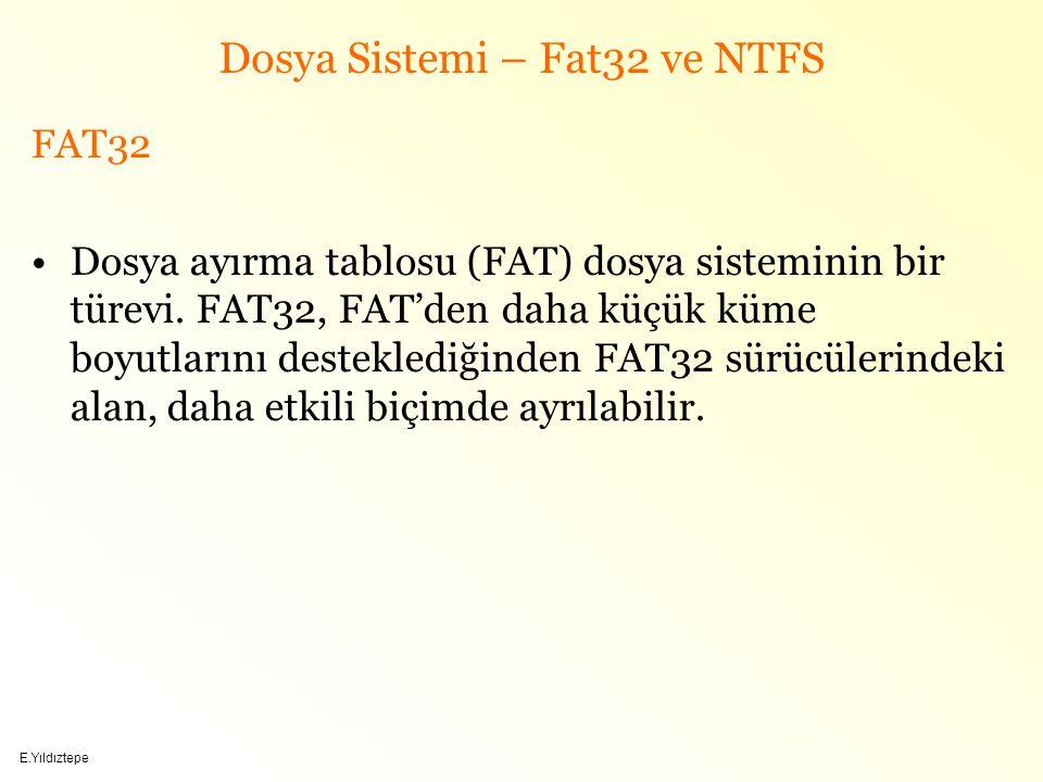 Dosya Sistemi – Fat32 ve NTFS