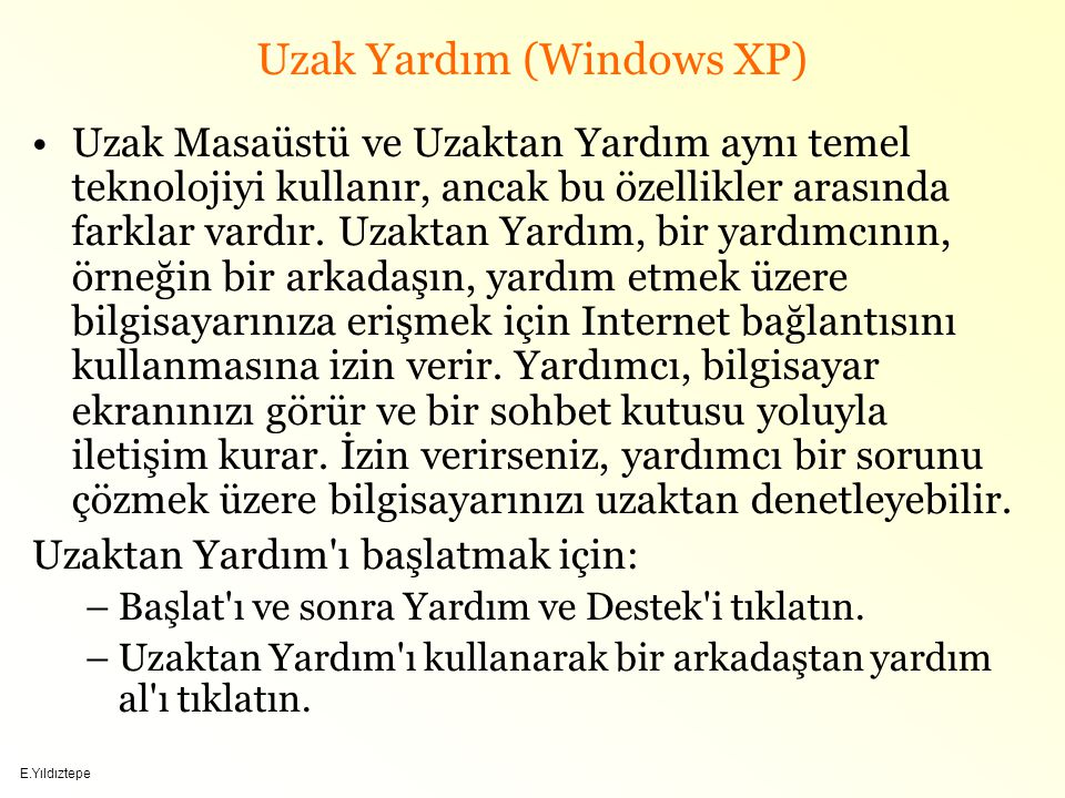 Uzak Yardım (Windows XP)