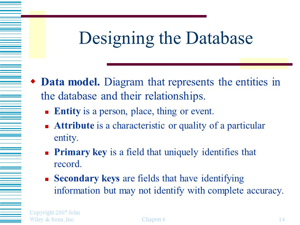 Designing the Database