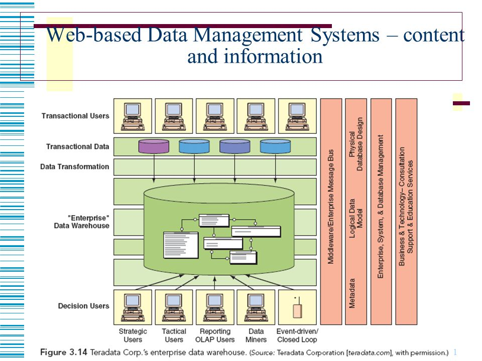 Web-based Data Management Systems – content and information