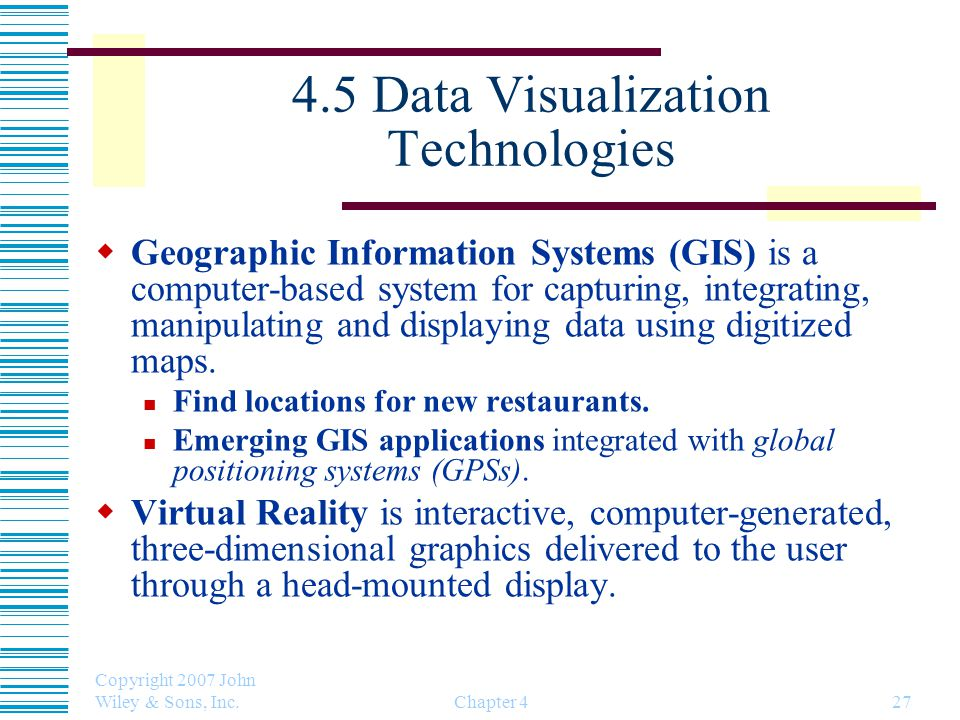 4.5 Data Visualization Technologies