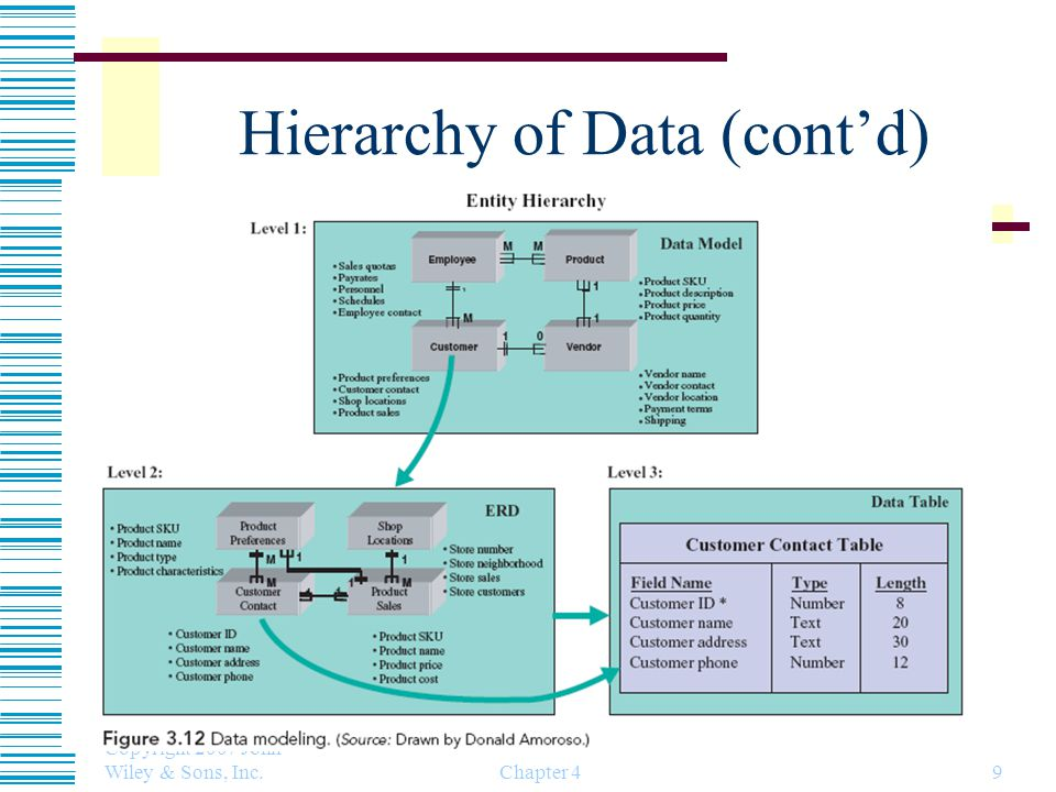Hierarchy of Data (cont'd)