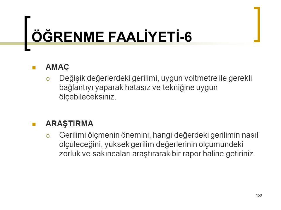 ÖĞRENME FAALİYETİ-6 AMAÇ