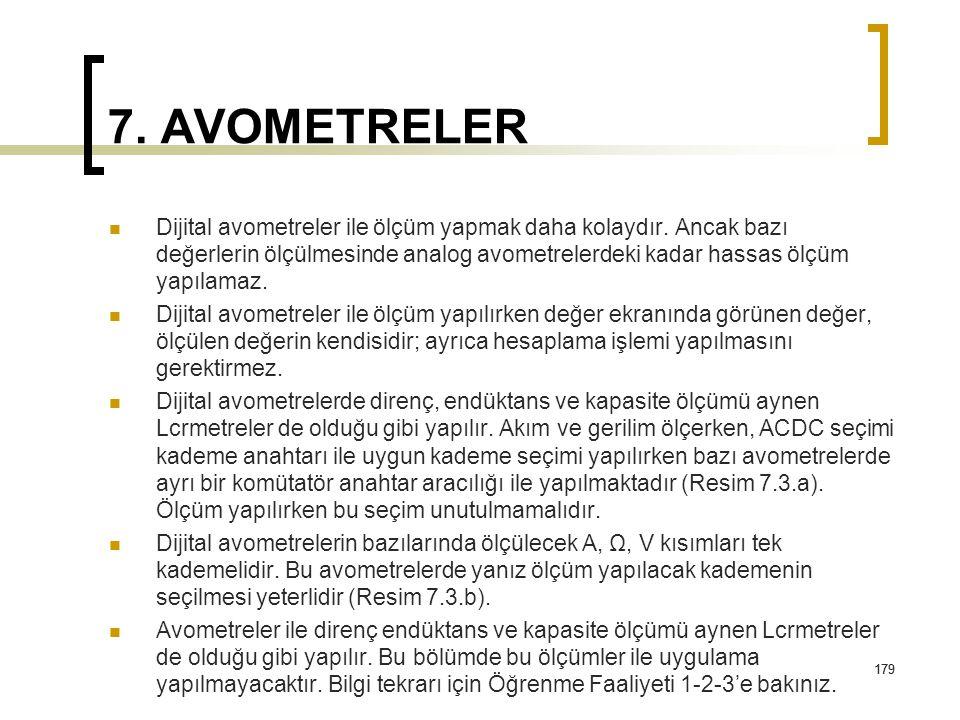 7. AVOMETRELER