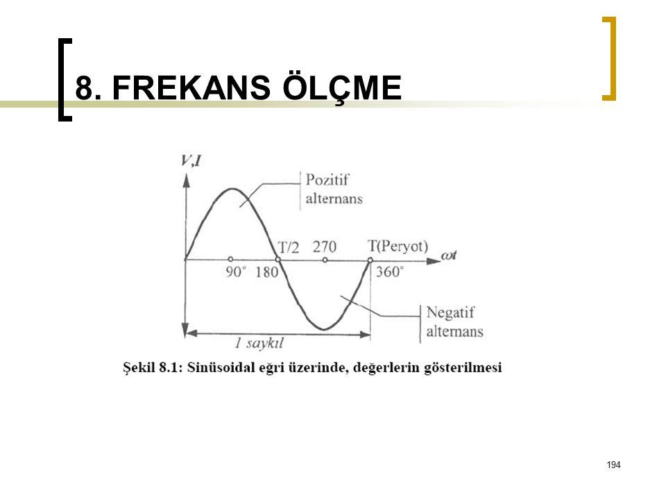 8. FREKANS ÖLÇME 194
