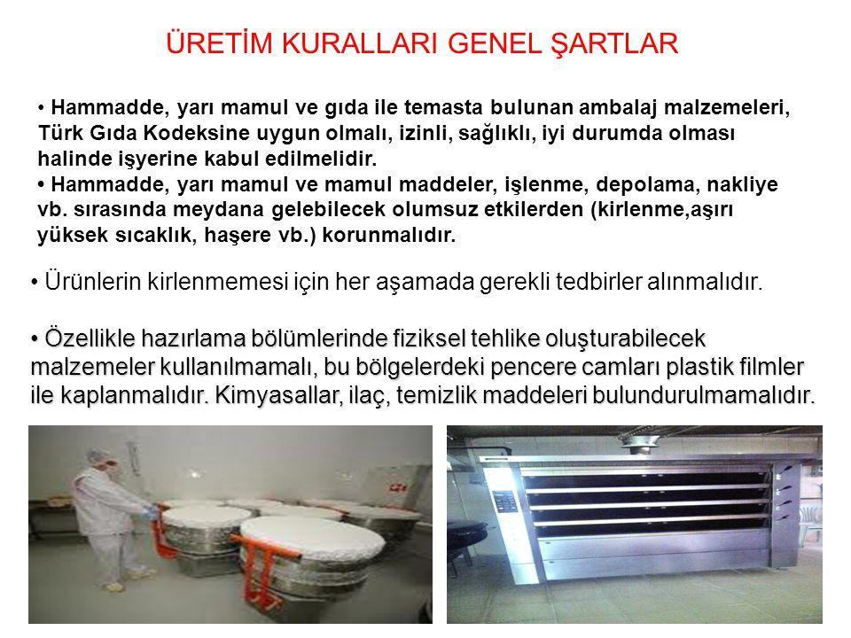 ÜRETİM KURALLARI GENEL ŞARTLAR