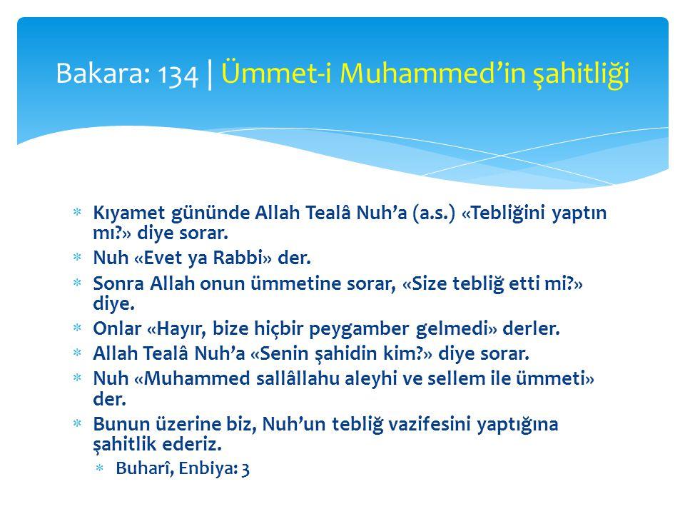 Bakara: 134 | Ümmet-i Muhammed'in şahitliği