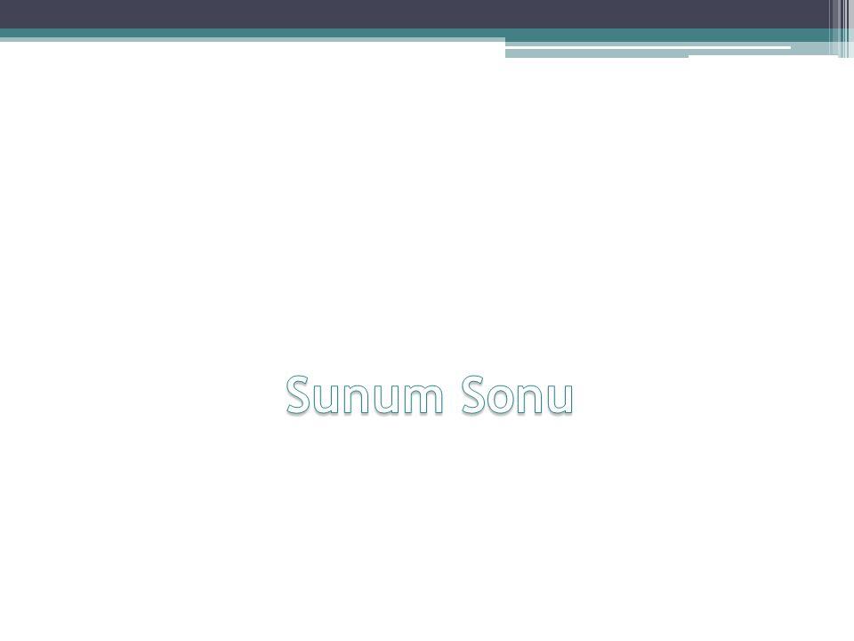Sunum Sonu