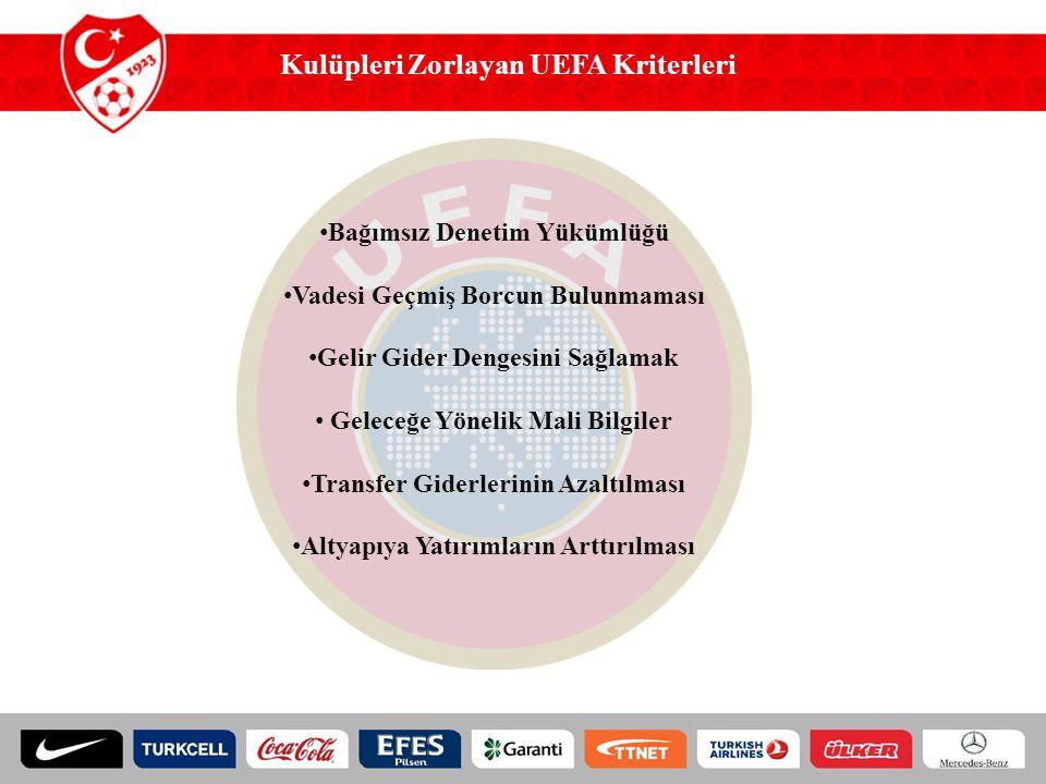 Kulüpleri Zorlayan UEFA Kriterleri
