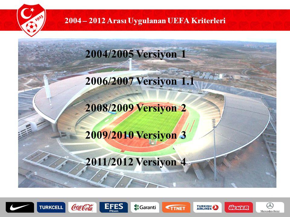 2004 – 2012 Arası Uygulanan UEFA Kriterleri