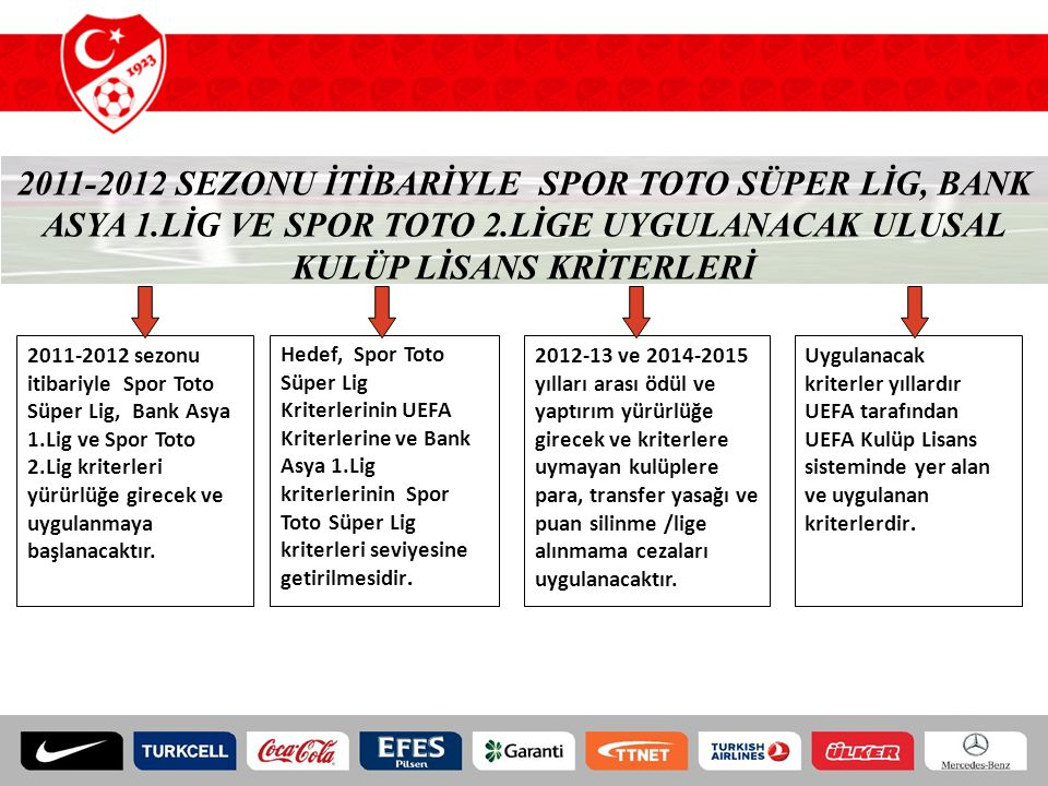 2011-2012 SEZONU İTİBARİYLE SPOR TOTO SÜPER LİG, BANK ASYA 1