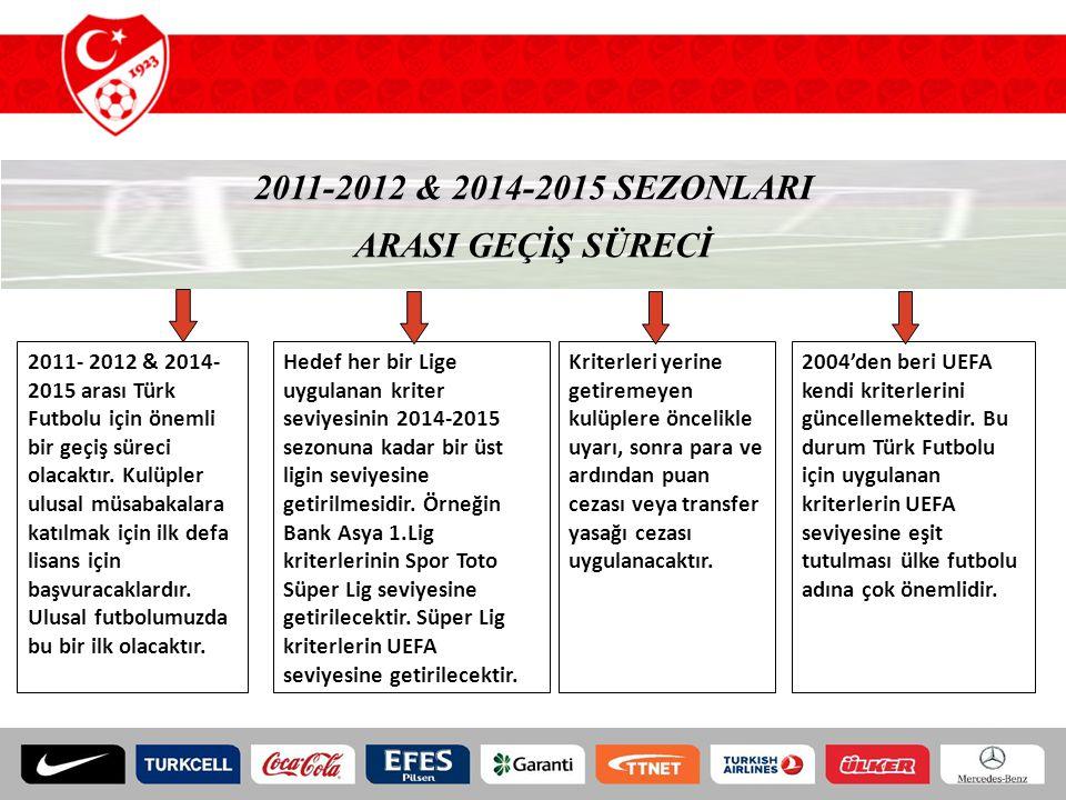2011-2012 & 2014-2015 SEZONLARI ARASI GEÇİŞ SÜRECİ