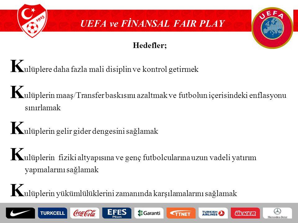 UEFA ve FİNANSAL FAIR PLAY