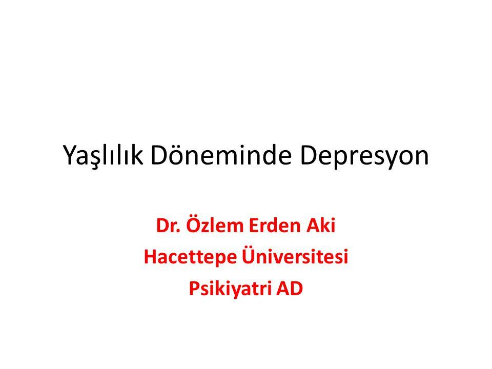 Yaşlılık Döneminde Depresyon