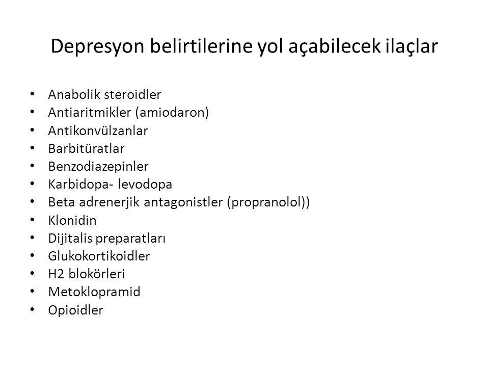 Depresyon belirtilerine yol açabilecek ilaçlar