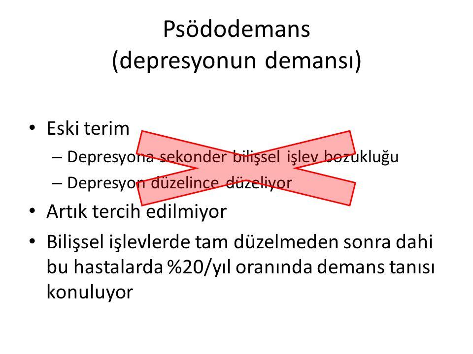 Psödodemans (depresyonun demansı)