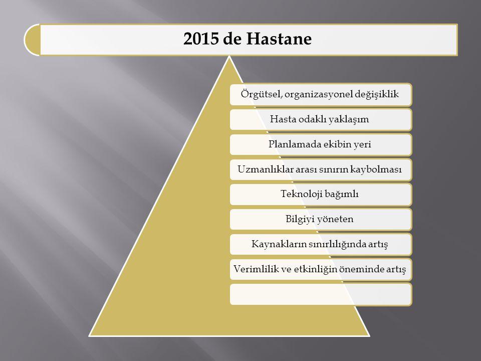 2015 de Hastane Örgütsel, organizasyonel değişiklik