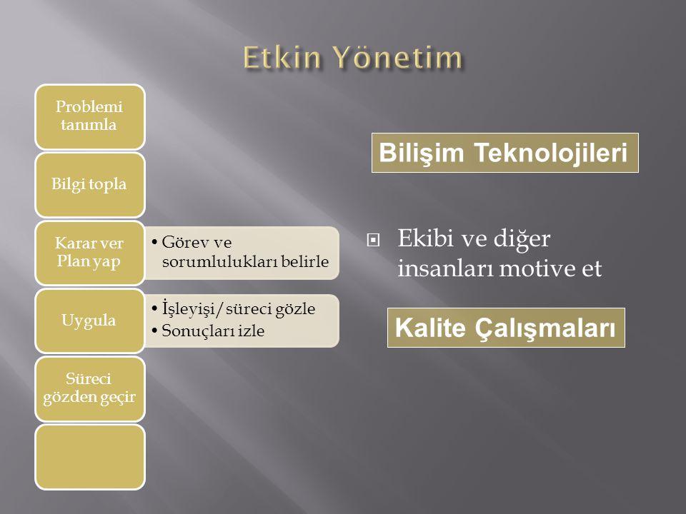 Etkin Yönetim Bilişim Teknolojileri Kalite Çalışmaları