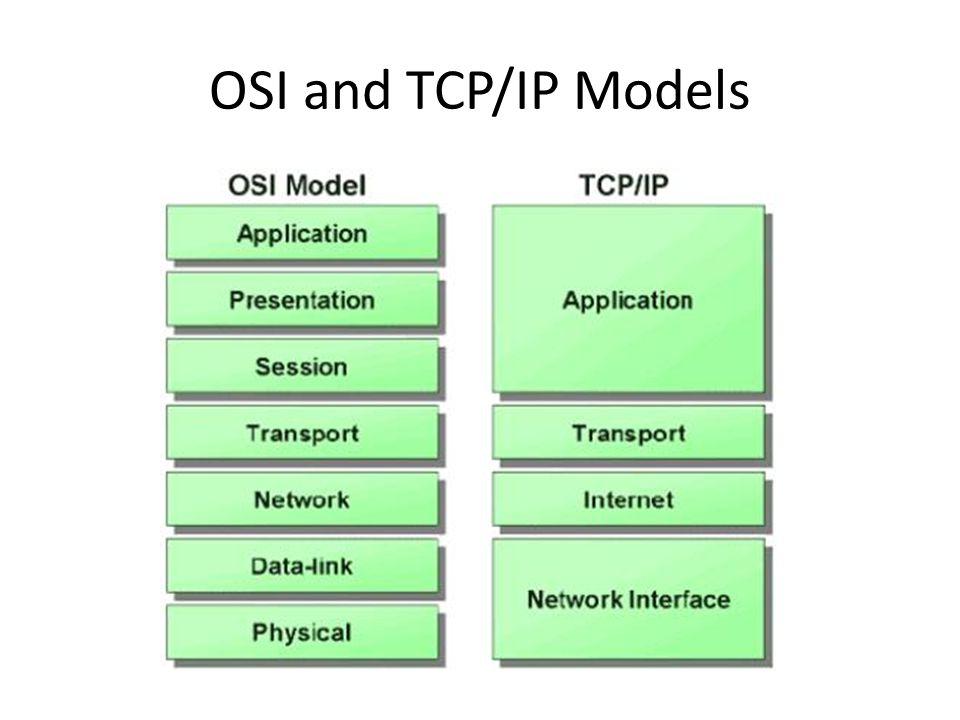 OSI and TCP/IP Models