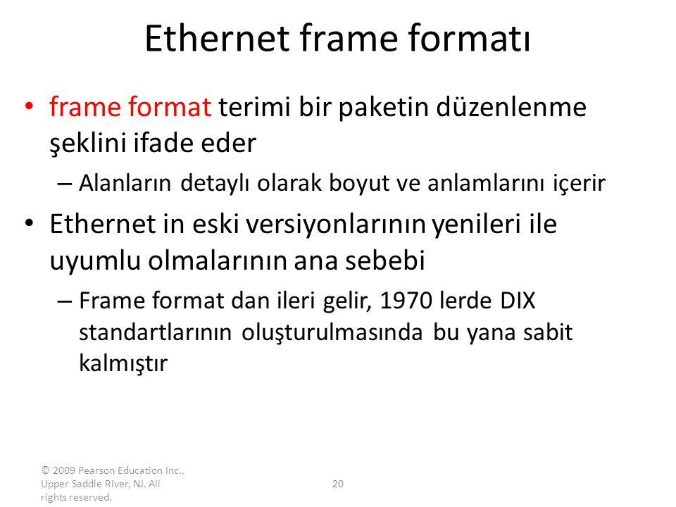 Ethernet frame formatı