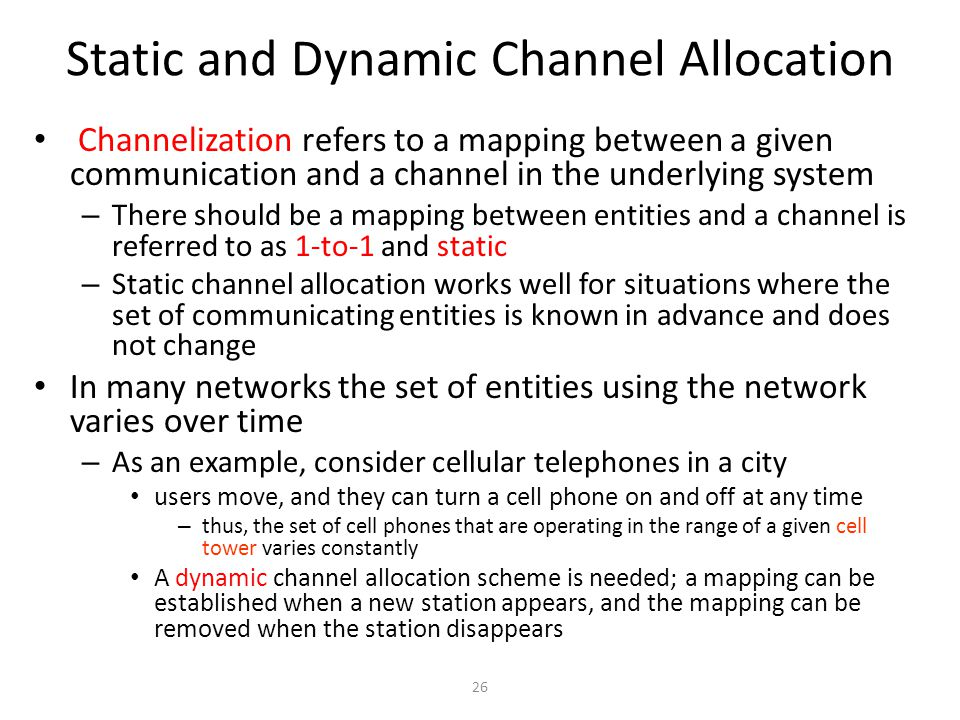 Static and Dynamic Channel Allocation