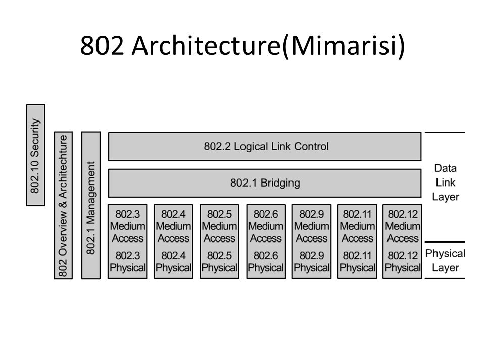 Chapter 5 wireless lan standards kablosuz lan for Ieee 802 11 architecture