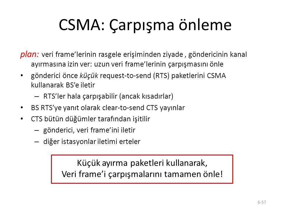 CSMA: Çarpışma önleme